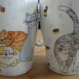 猫マグカップ。